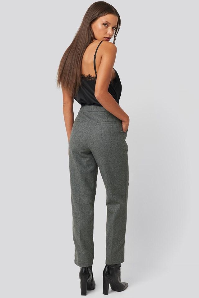 Cigarette Suit Pants Grey