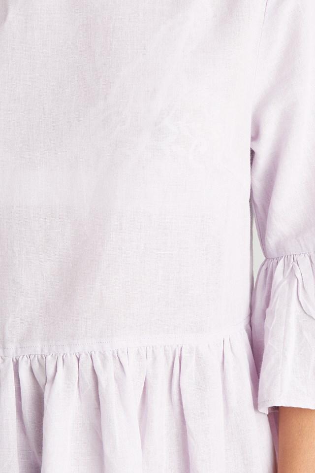 Flounce Mini Dress Lilac