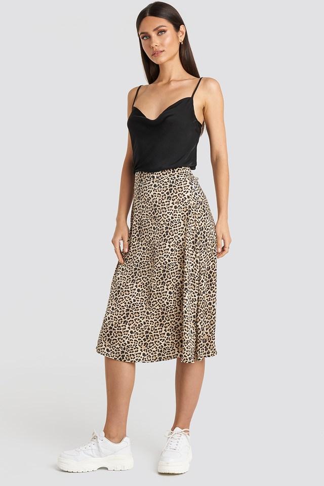 Leo Midi Skirt Leopard