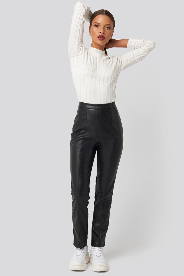 PU Leather Pants Black