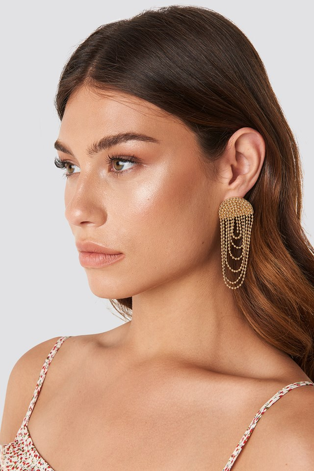 Layered Chain Earrings NA-KD Accessories