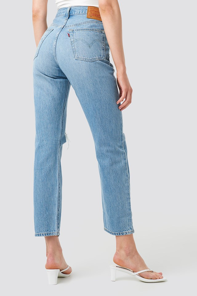 501 Crop Jeans Montgomery Patched