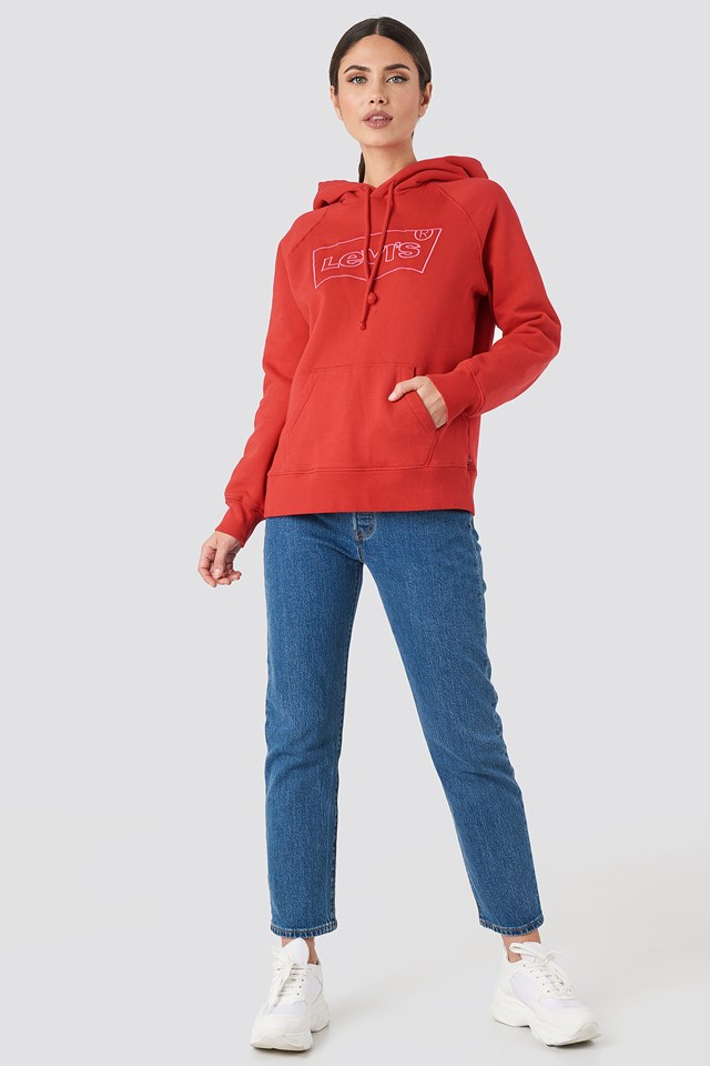 Graphic Sport Hsmk Outline Hoodie Brilliant Red