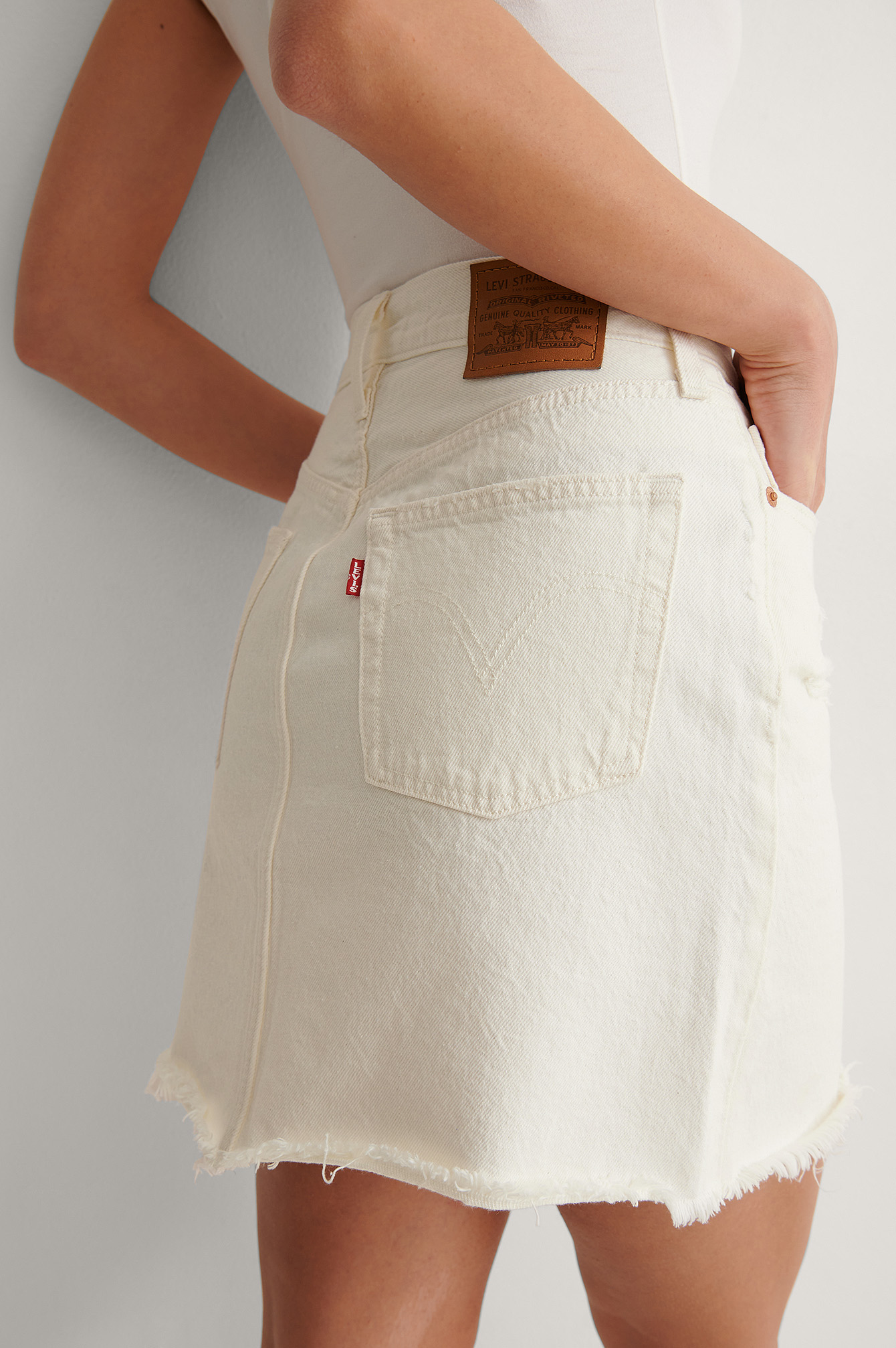 Pearl White Iconic Bf Skirt