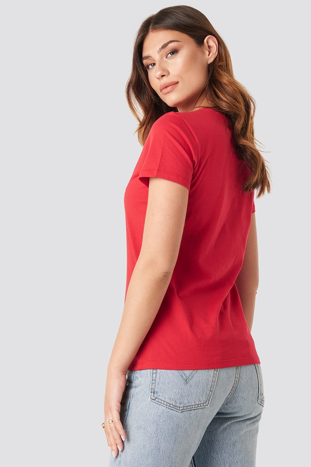 The Perfect Tee Sptwr Logo Brilliant Red