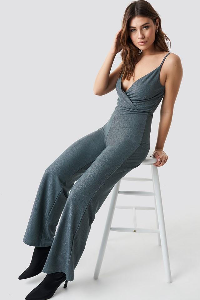 Wide Leg Jumpsuit Dark Grey