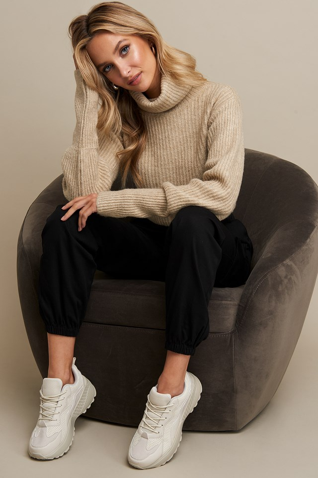 High Neck Cropped Sweater Linn Ahlborg x NA-KD
