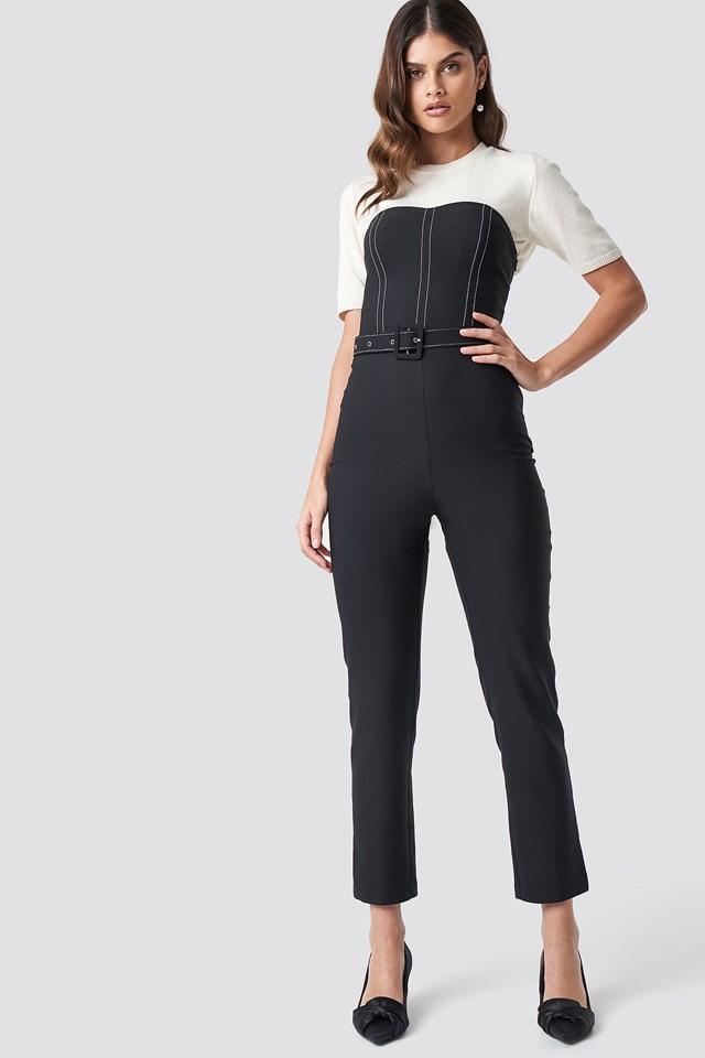 Corset Jumpsuit Black