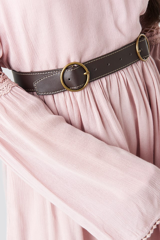 Double Ring Belt Brown
