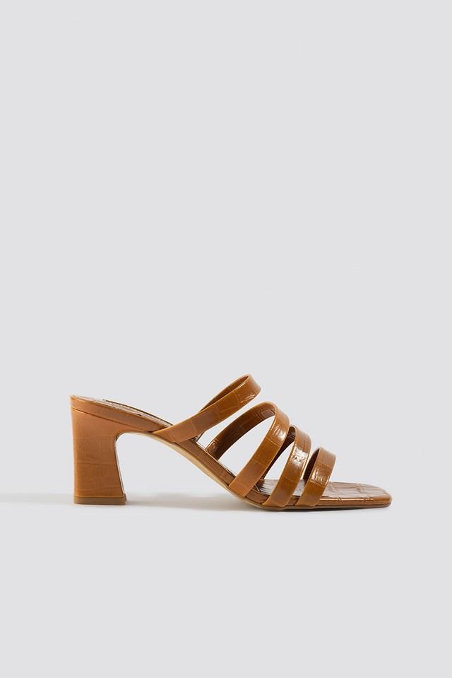 Iris Sandals Leather Brown