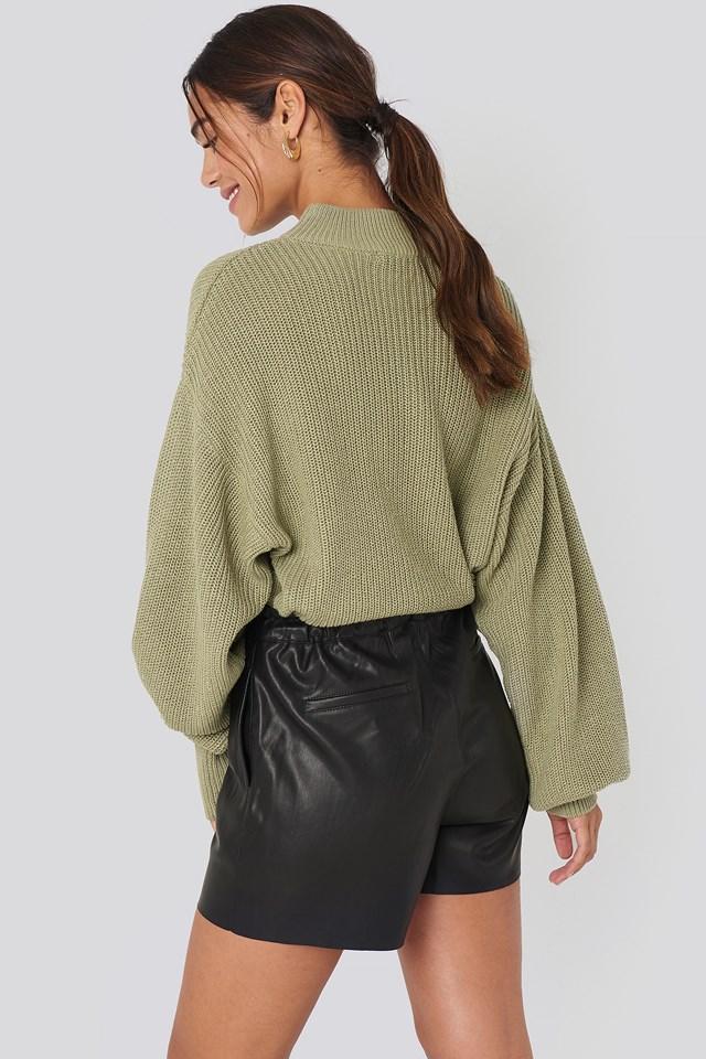 Paperbag Shorts Black