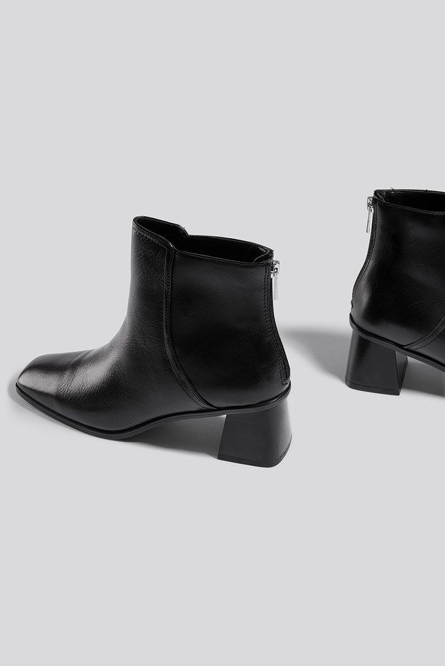 Step Ankle Boots Black
