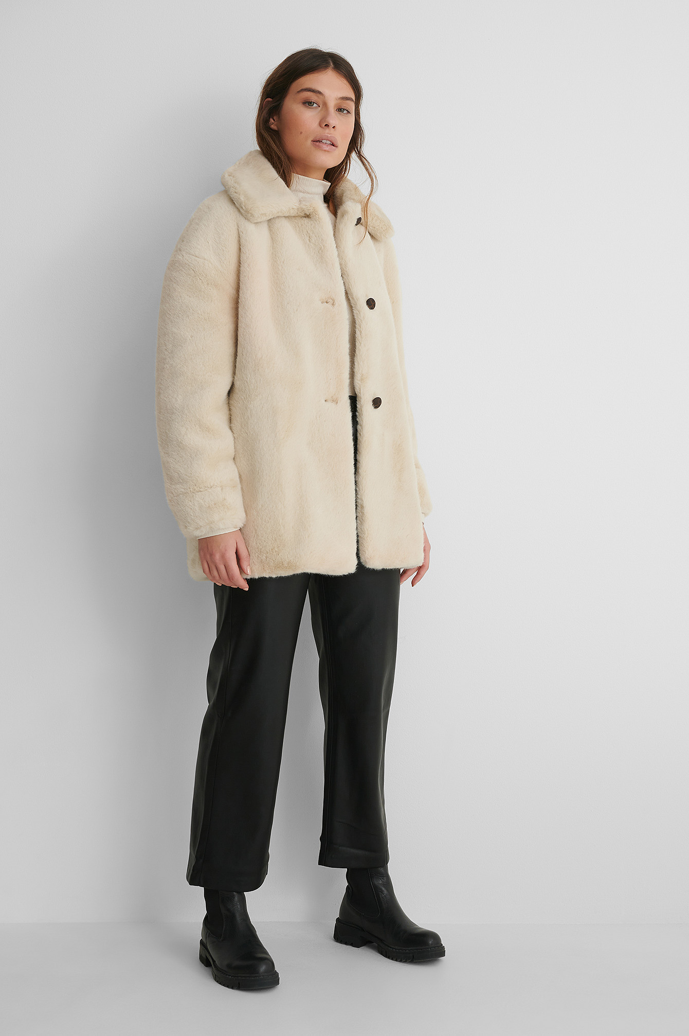 Light Beige Woodi Coat