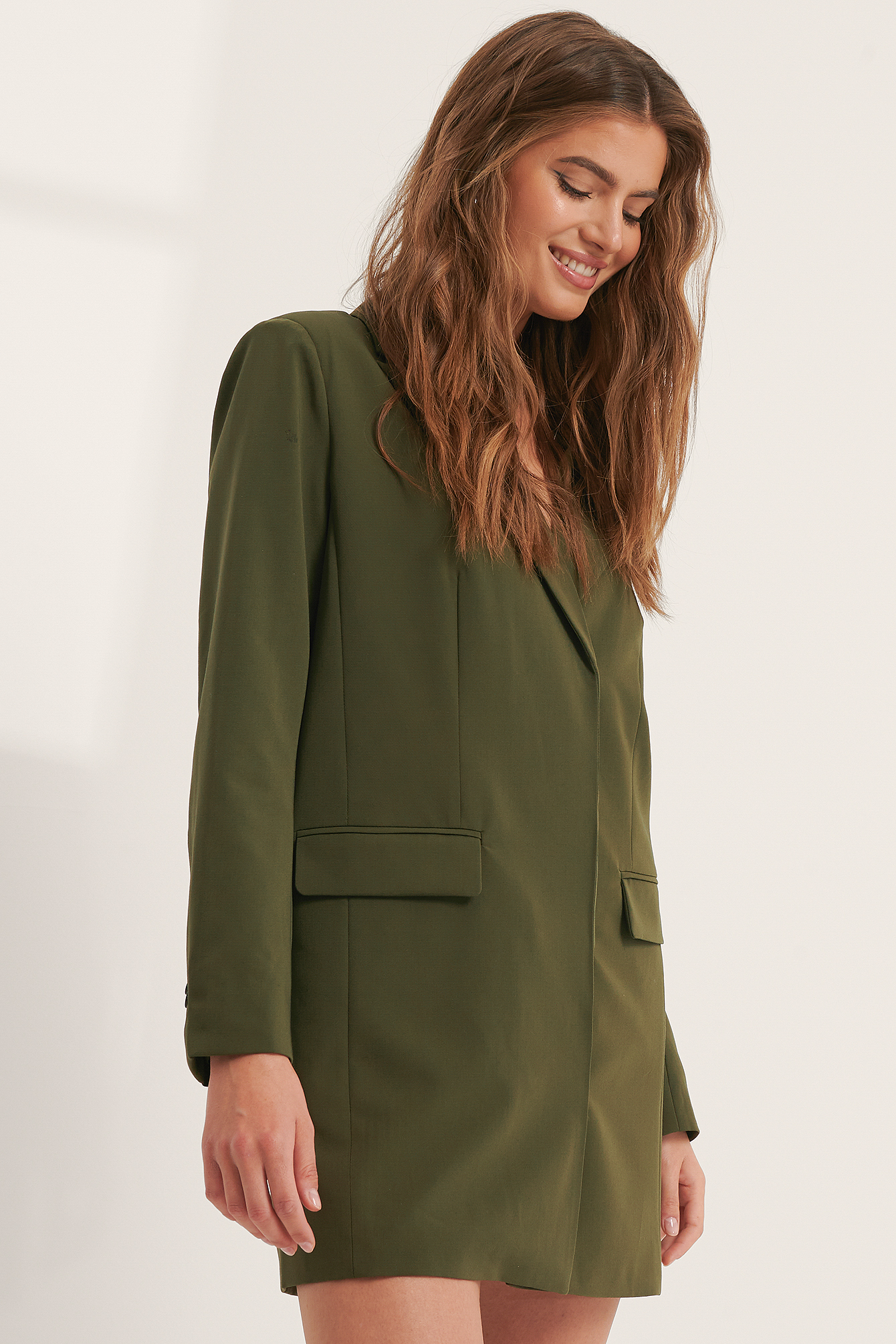 Dark Green Blazer Dress