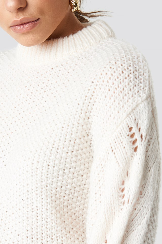 Heavy Knitted Sweater Off White