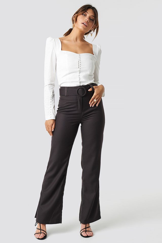 Highwaist Flared Pants Milena Karl x NA-KD