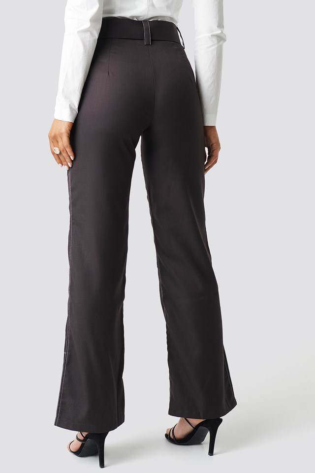 Highwaist Flared Pants Brown