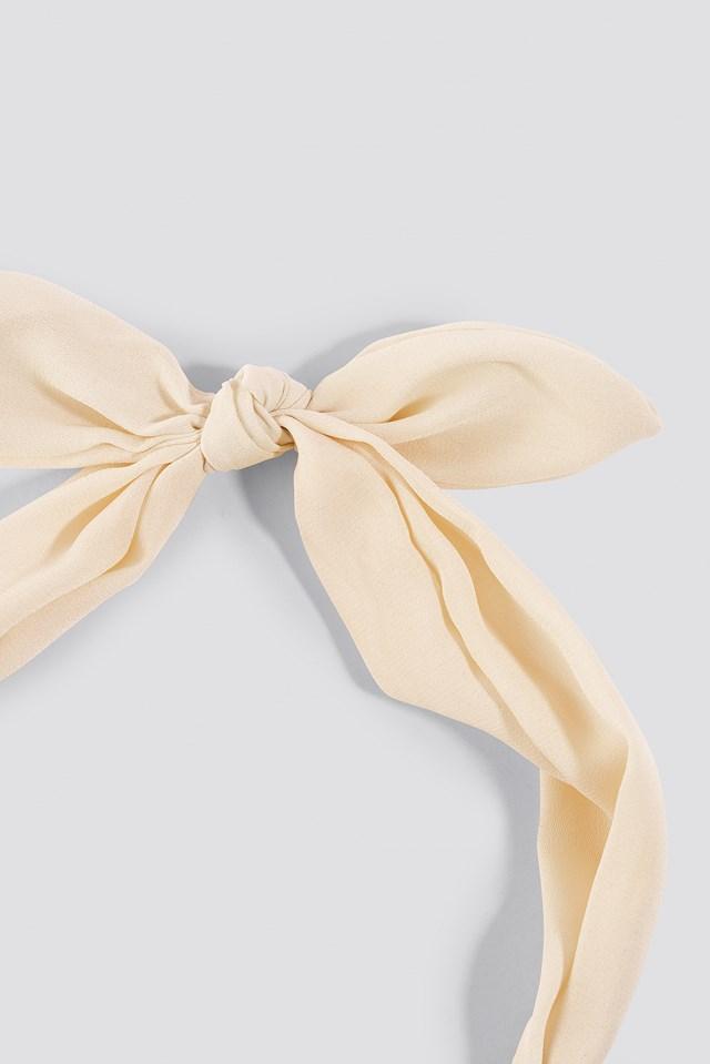 Knot Hairband White