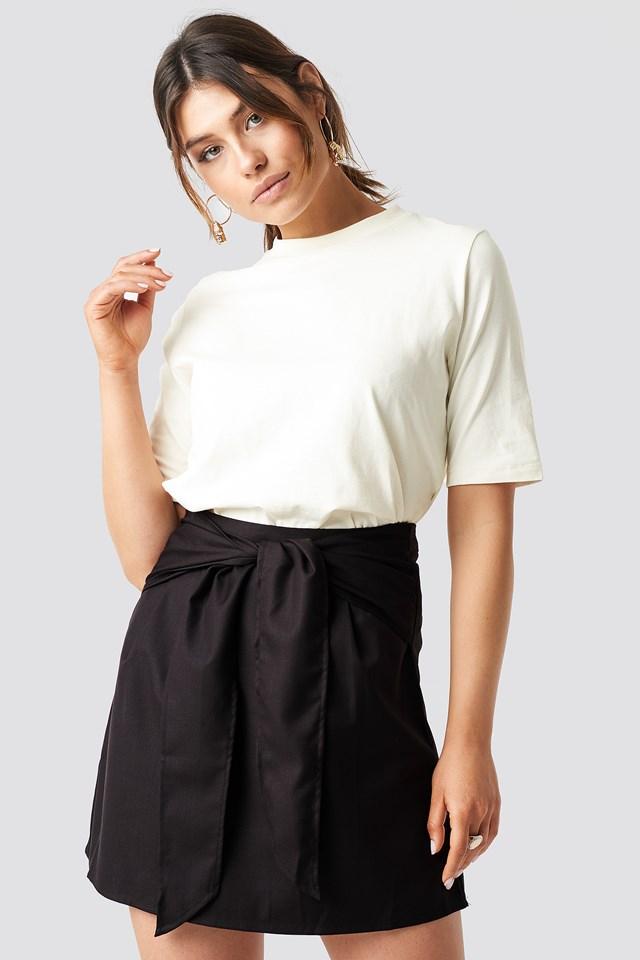 Knot Mini Skirt Brown