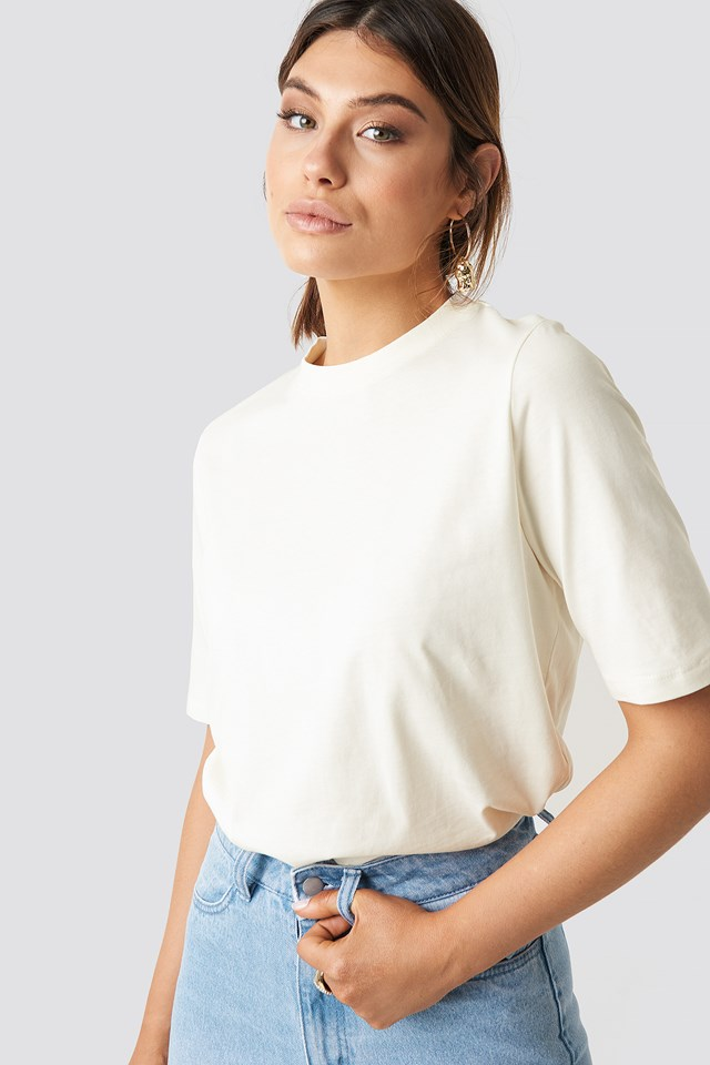 Plain Roundneck T-shirt Off White