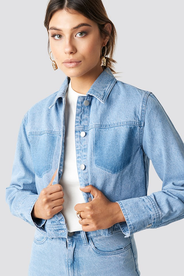 Washed Denim Jacket Milena Karl x NA-KD