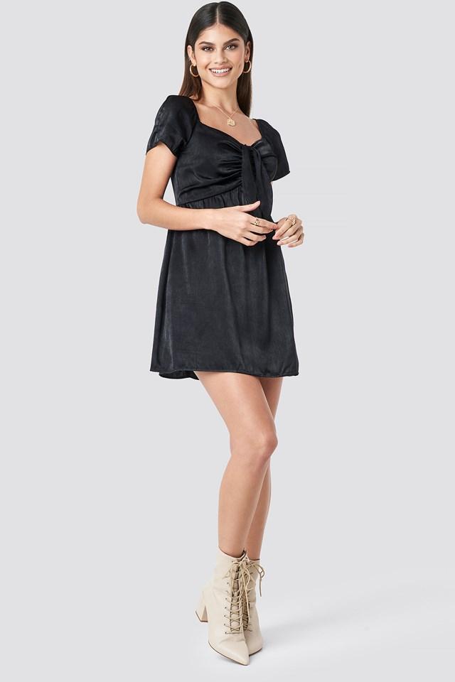 Knot Mini Dress Black