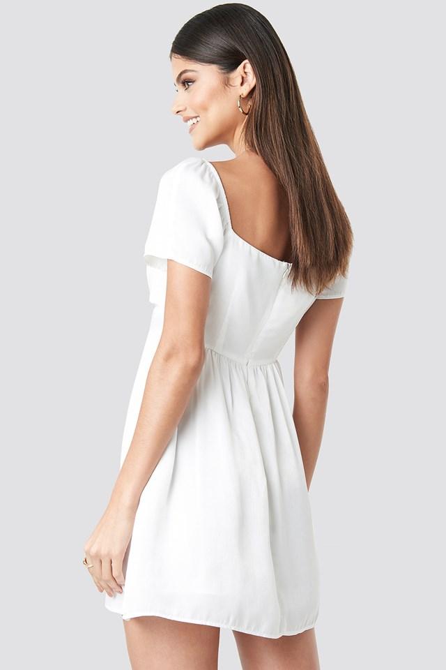 Knot Mini Dress Offwhite