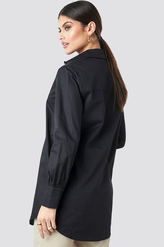Oversized Cotton Shirt Black