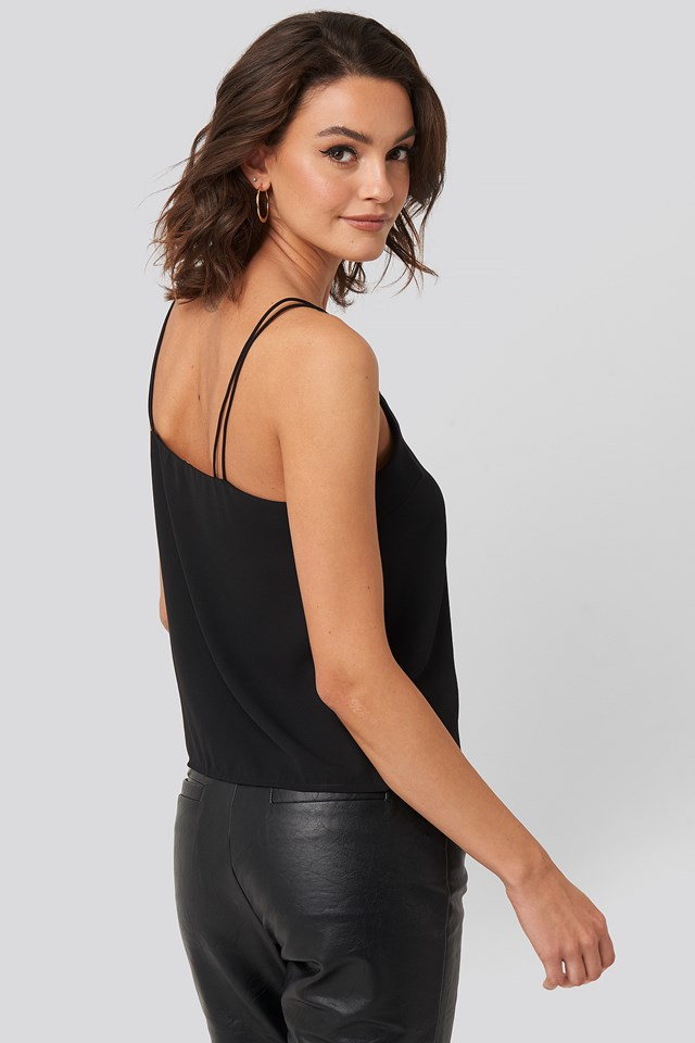 Lace Detail Singlet Black