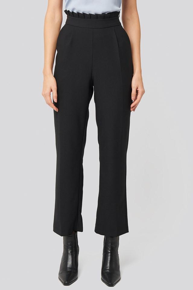 Pleat Detail Suit Pants Black