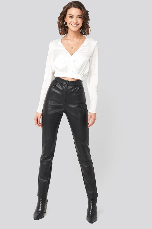 PU-Leather Slim Pants Nadine x NA-KD