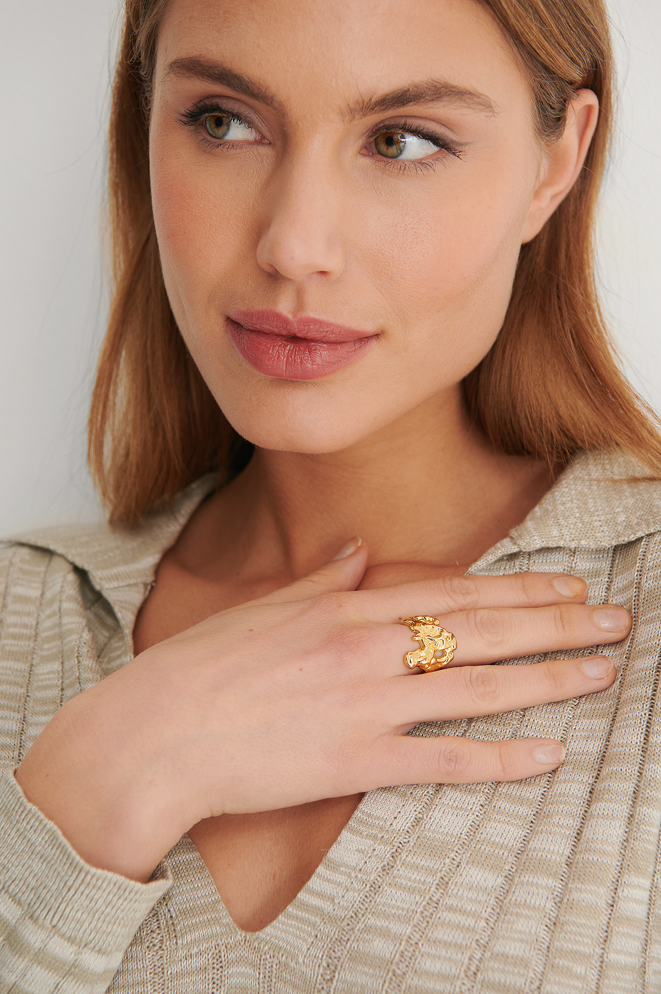 Gold 18K Gold Plated Abstract Ring