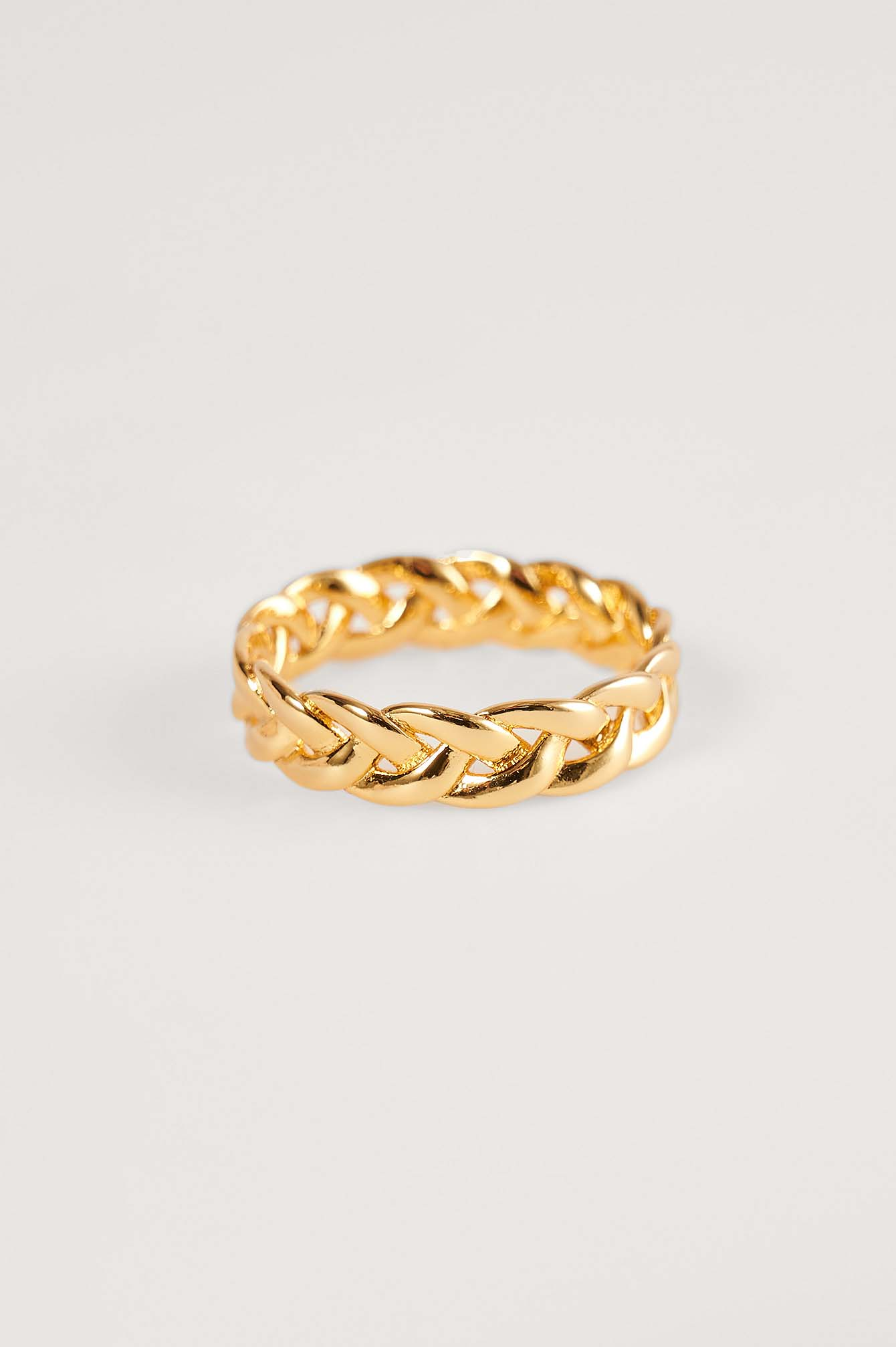 Gold 18K Gold Plated Braided Ring