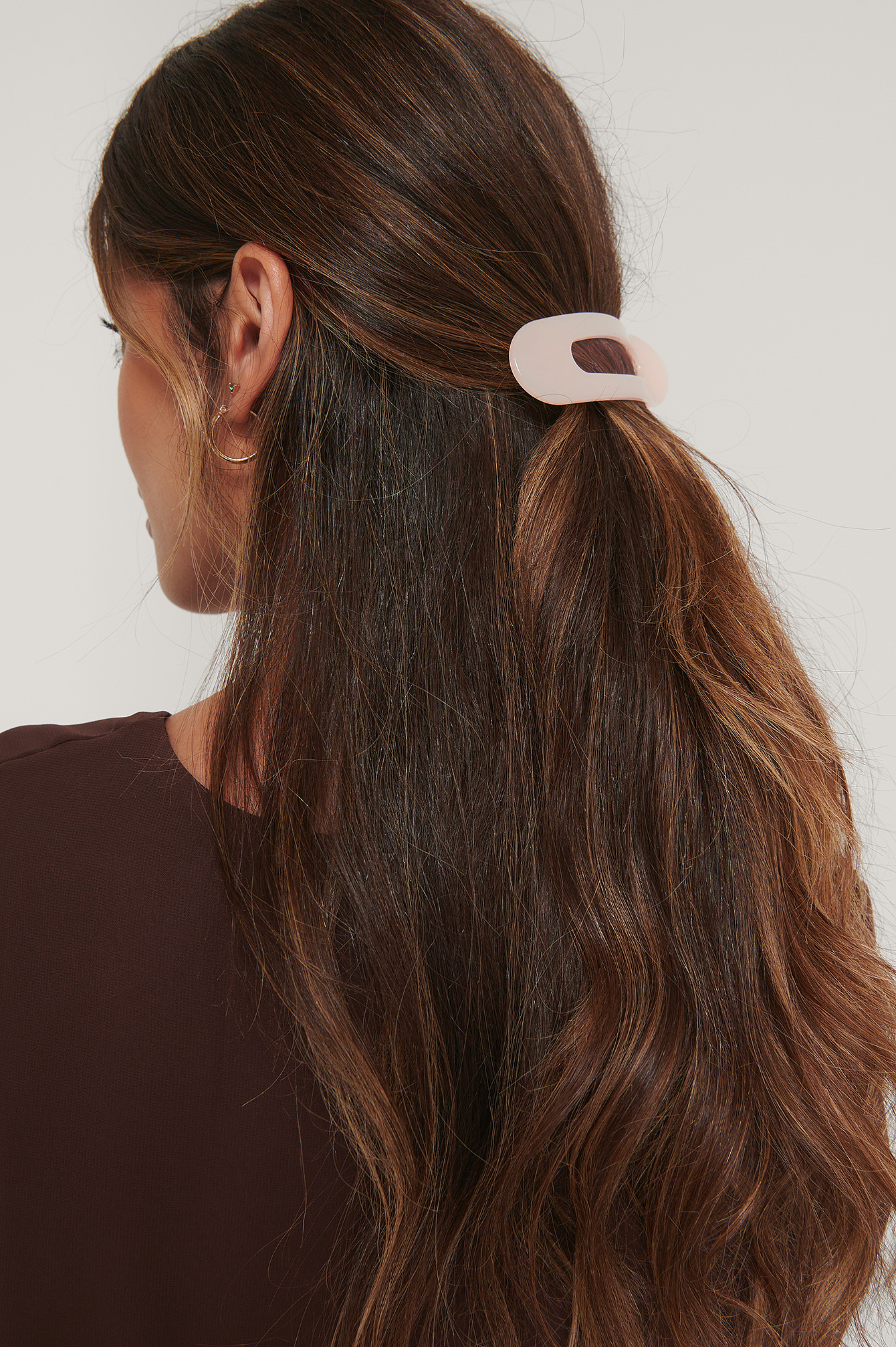 Brown combo 3-Pack Big Oval Hairclips