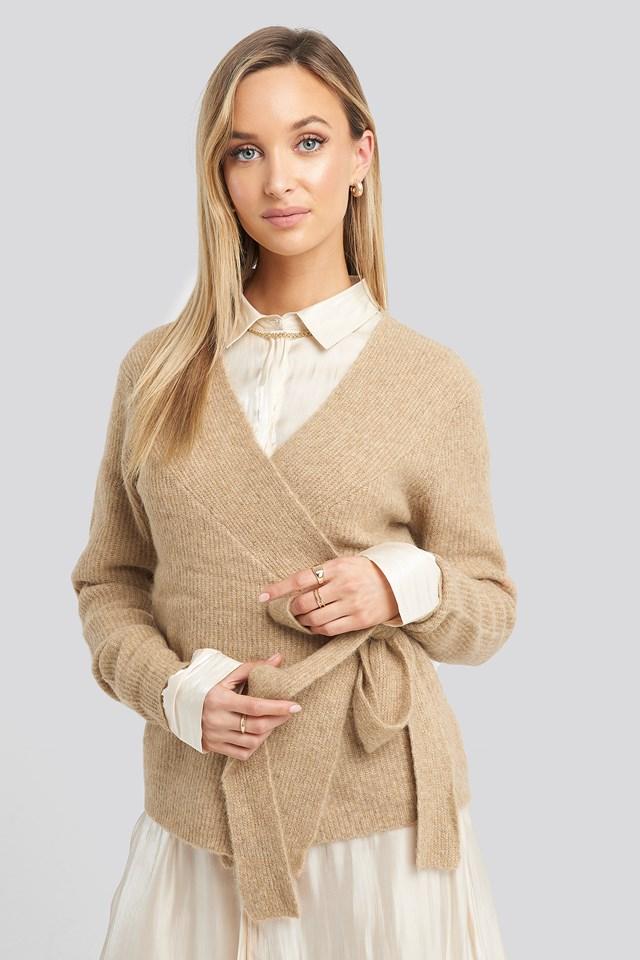 Alpaca Wrap Around Knitted Sweater NA-KD Trend