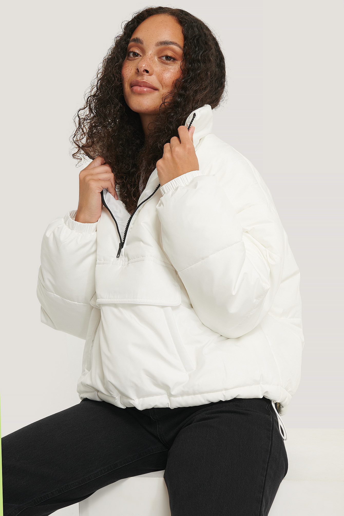 White Anorak Padded Jacket