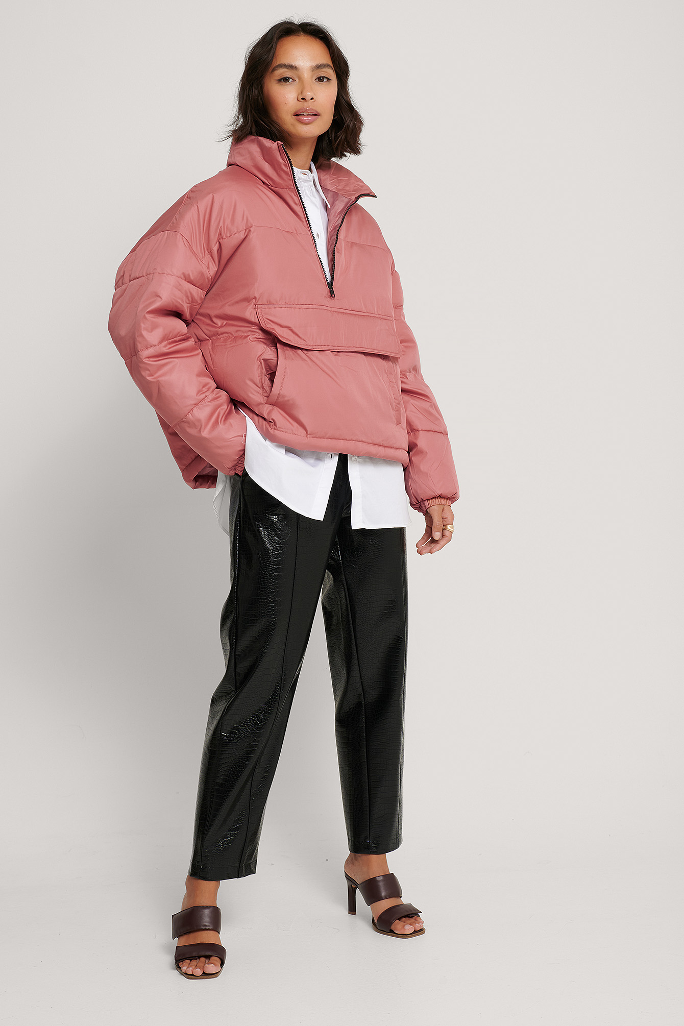 Dusty Pink Anorak Padded Jacket