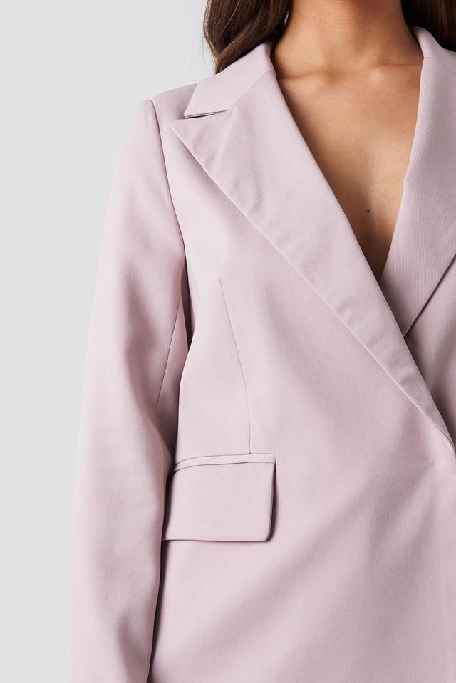 Asymmetric Blazer Lilac
