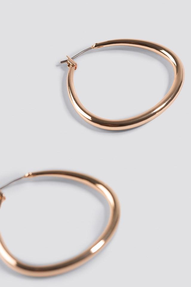 Asymmetric Mini Hoop Earrings Gold