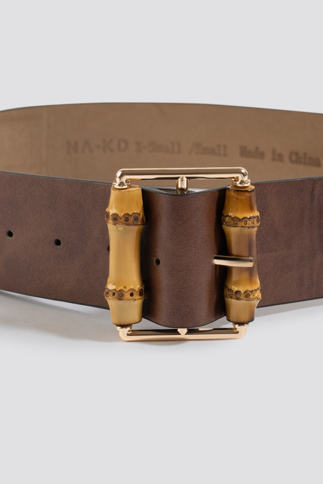 Bamboo Buckle Belt Brown