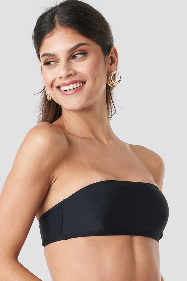 Bandeau Bikini Top Black