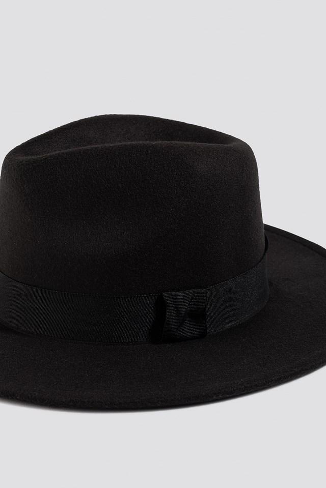 Basic Fedora Hat Black