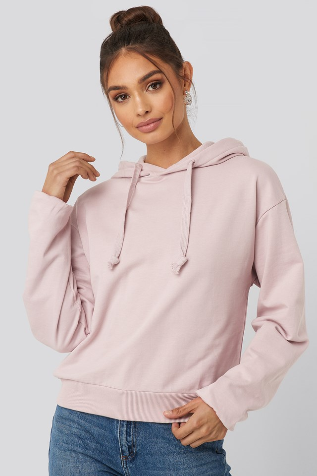 Basic Hoodie Dusty Light Pink