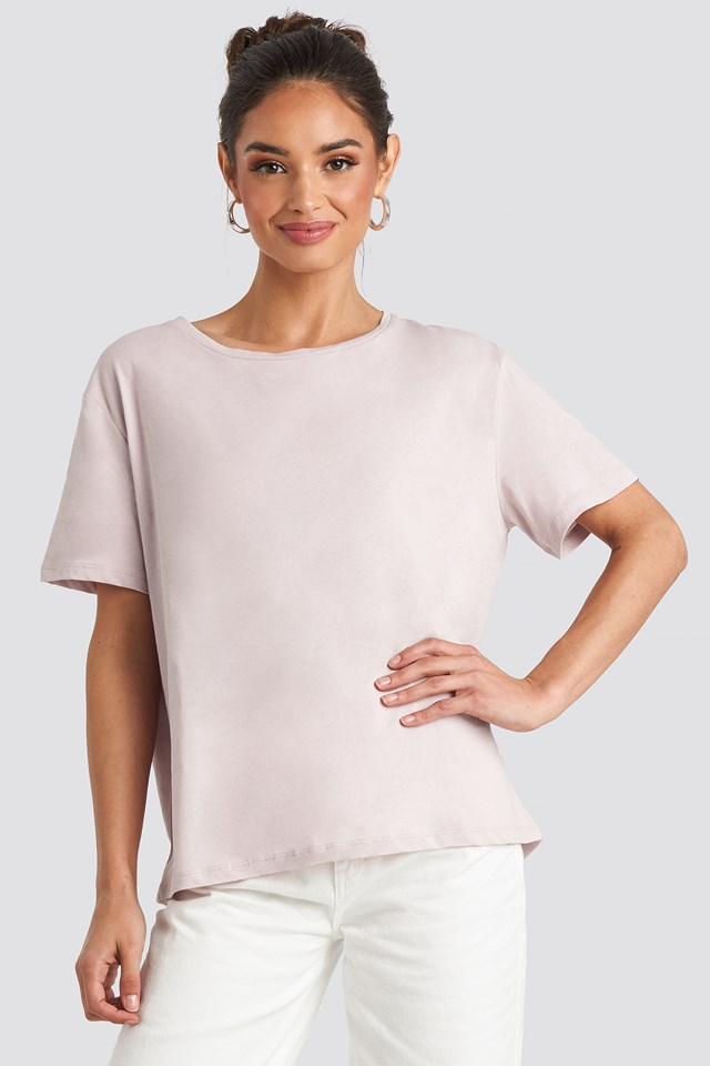 Basic Oversized Tee Dusty Light Pink