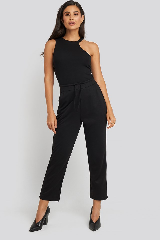 Basic Slip Pants Black