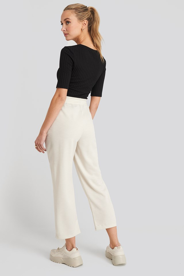 Basic Slip Pants Dusty Light Beige