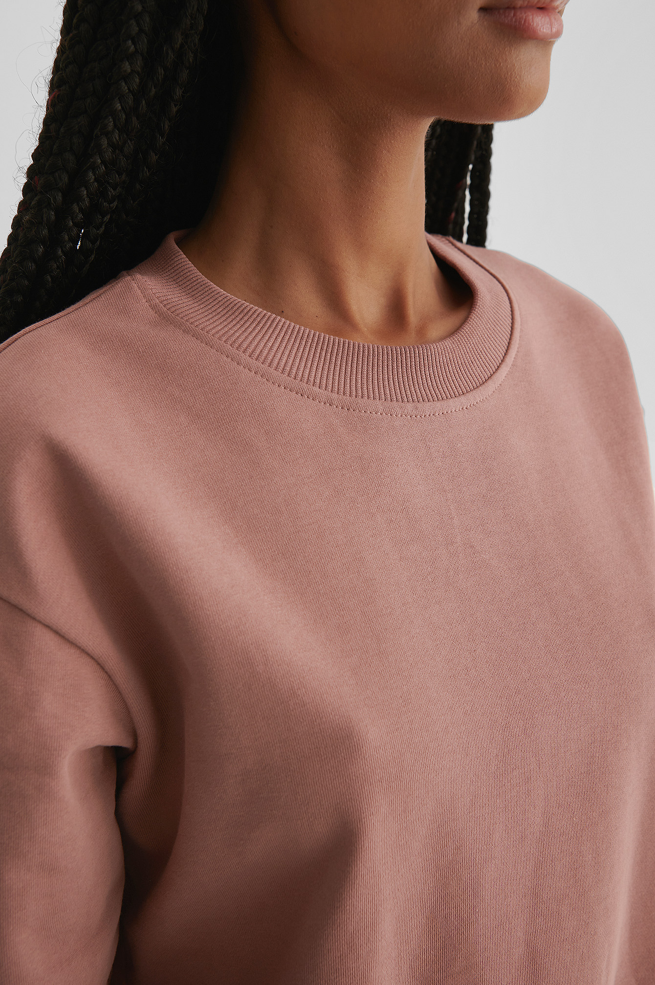 Dusty Dark Pink Basic Sweater