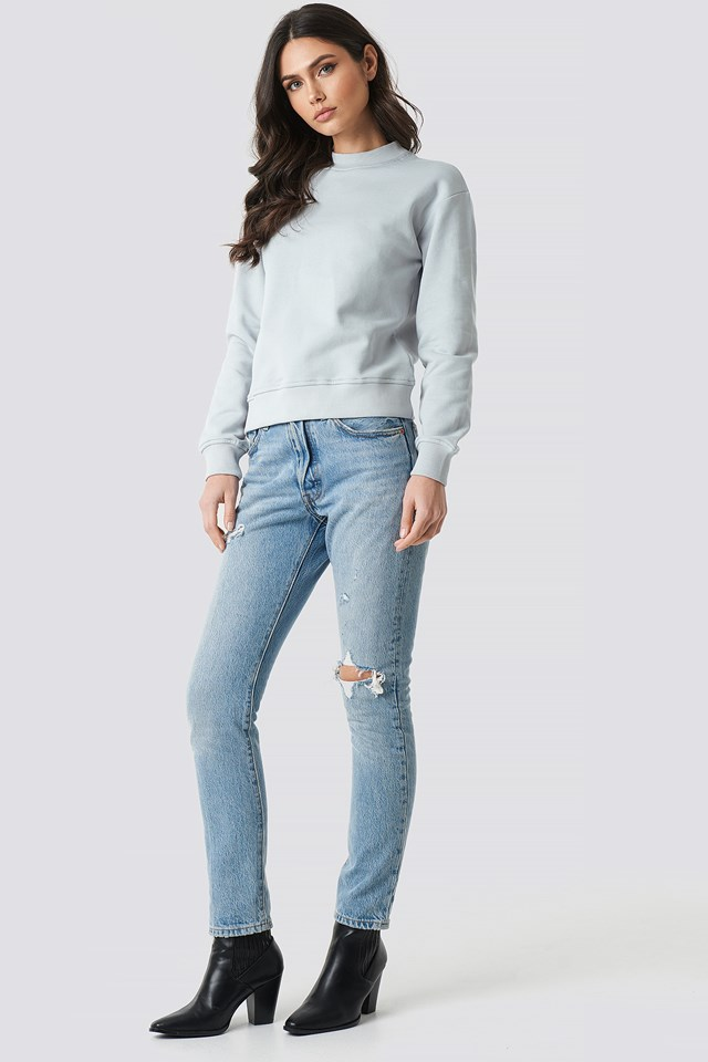 Basic Sweater Light Grey