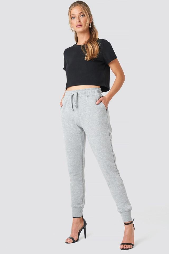 Basic Sweatpants Grey Melange