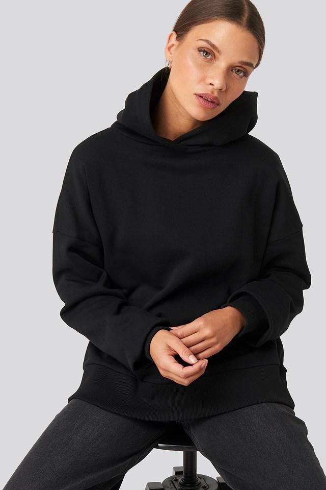 Basic Wide Hoodie Black